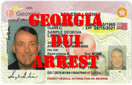Georgia DUI Arrest License Suspension
