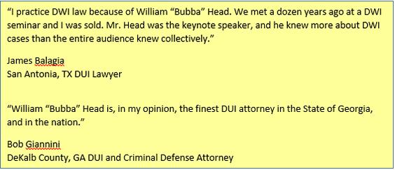 The Best DUI Lawyer in Atlanta - Bubba Head