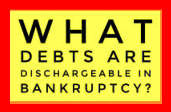 depts dischargeable in bankruptcy
