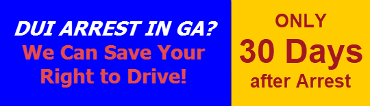 GA DUI license suspension