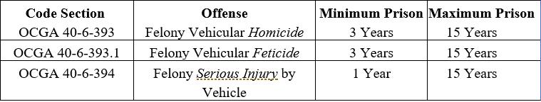 vehicular homicide jail time
