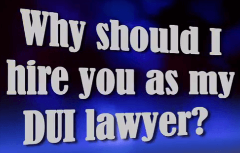 Why Should I Hire a DUI Lawyer