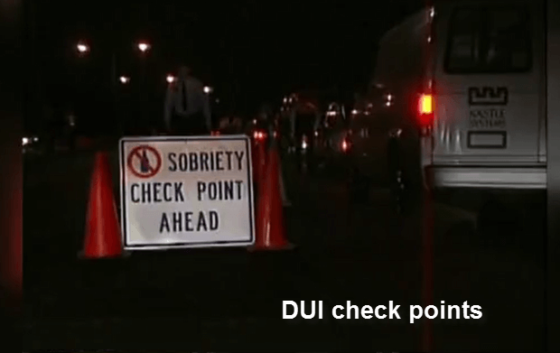 DUI Sobriety Check Points