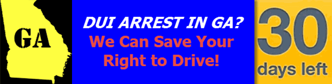 DUI Arrest Drivers License GA