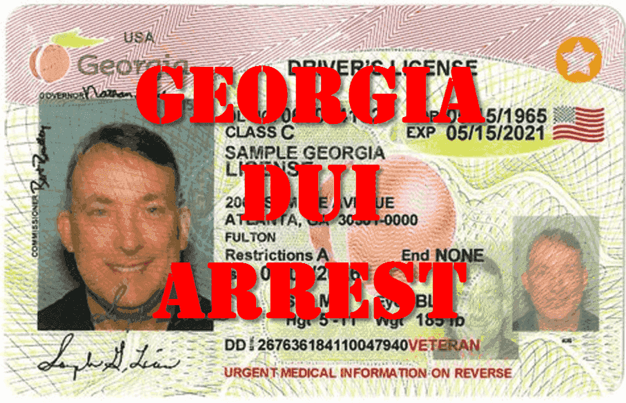 GA driver's license suspension for drunk driving