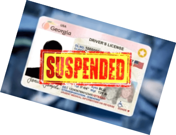 Georgia Driver's License suspended