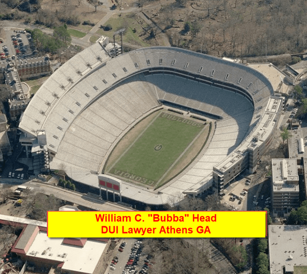 Sanford Stadium Aerial View - Athens GA DUI Lawyer