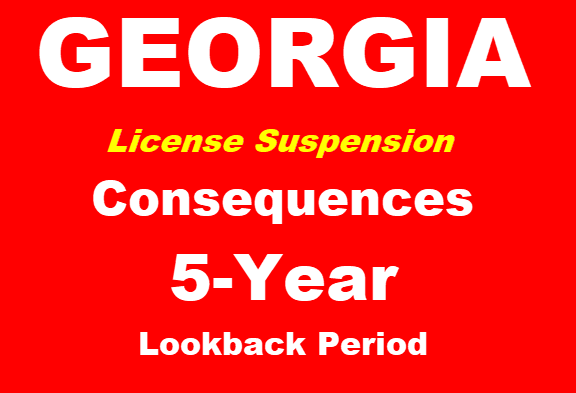 GA 2nd DUI Lookback 5 Years