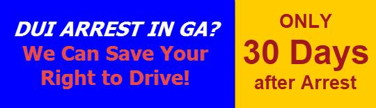Driver's License Suspension for DUI in GA