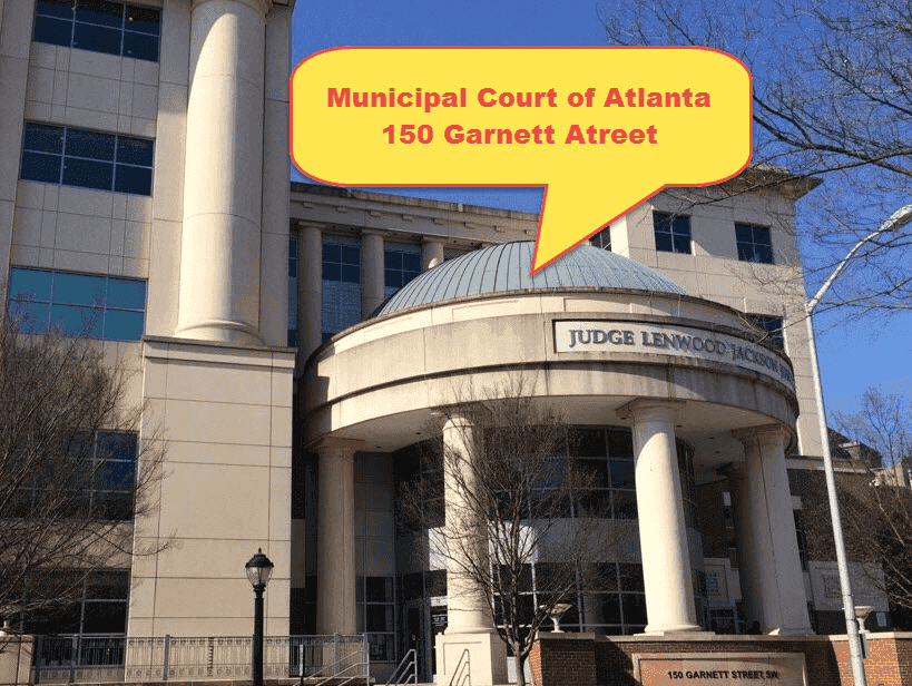Municipal Court of Atlanta Traffic TIcket