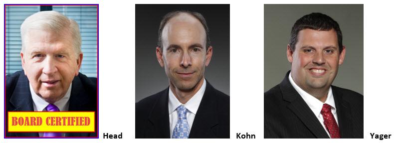 GA DUI Lawyer Bubba Head, Larry Kohn, and Cory Yager