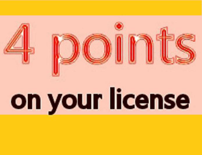 4 points on GA license