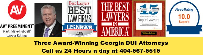 Three Awards-Winning Georgia DUI Attorneys