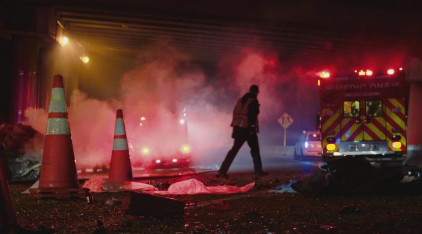 Emergency Car Wreck Scene