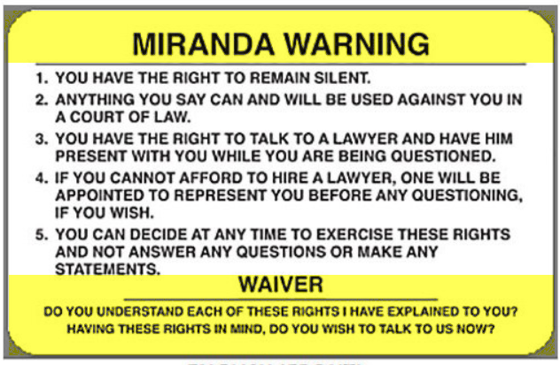 Miranda Rights: What Is a Miranda Warning and Does It Apply to DUI ...