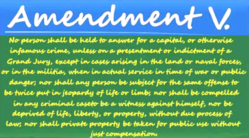 Amendment V.