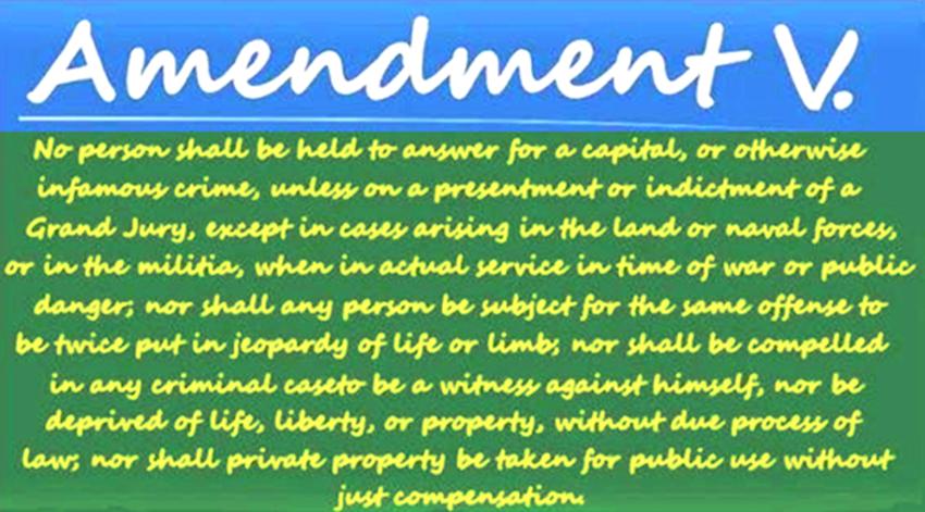 Amendment V.