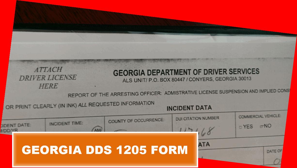 Georgia DDS 1205 Form