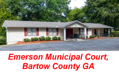 Emerson Municipal Court Bartow County GA