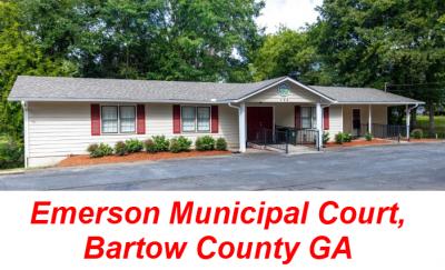 Emerson Municipal Court Bartow County GA