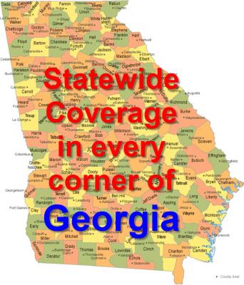 Map of Georgia Counties