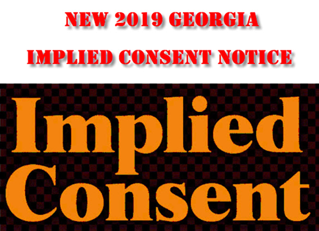 GA Implied Consent Law 2019