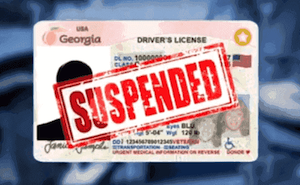 GA Driver's License Suspended - Can't drive legally in Sandy Springs GA
