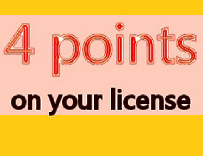 4 points on GA license for reckless driving