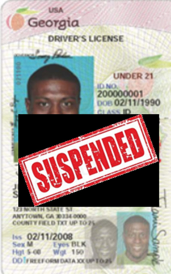 Suspended license for reckless driving in GA