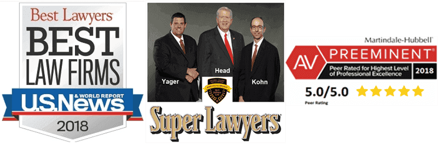 Award-winning trio of DUI defense attorneys based in metro Atlanta for your Atlanta DUI or in any other Georgia court location - William Head, Larry Kohn and Cory Yager
